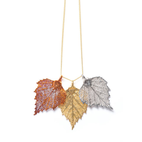 Birch Triple Necklace by Rocky Mountain Leaf Company
