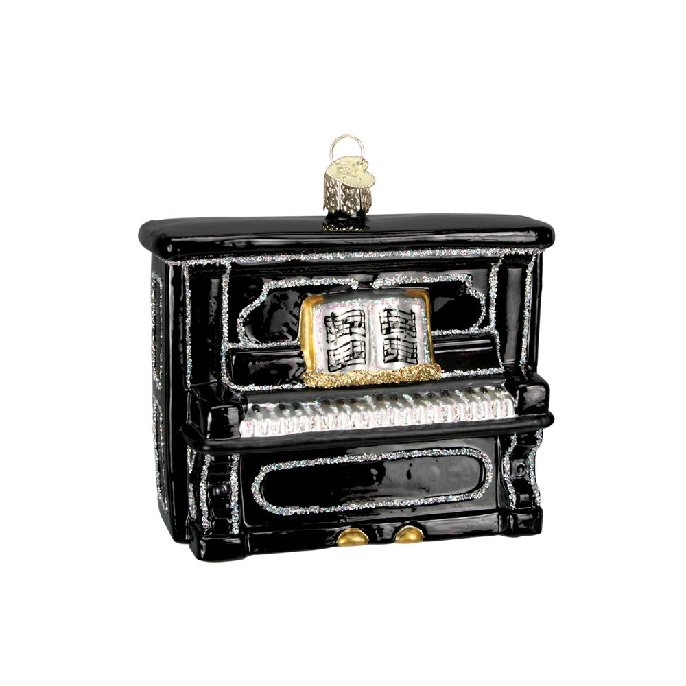 Black Upright Piano Christmas Ornament by Old World Christmas at Montana Gift Corral