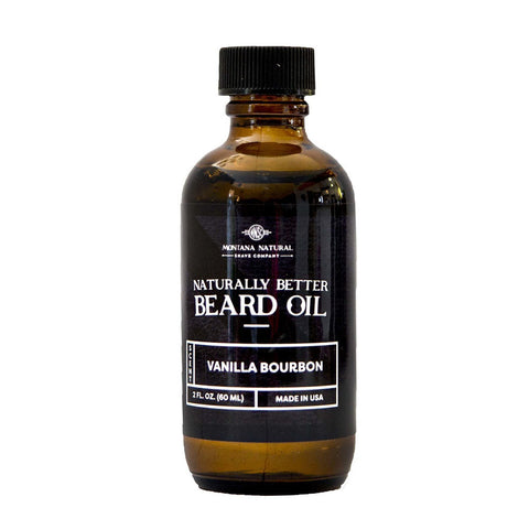 Vanilla Bourbon Beard Oil by Montana Natural Shave Company DAYSPA Body Basics