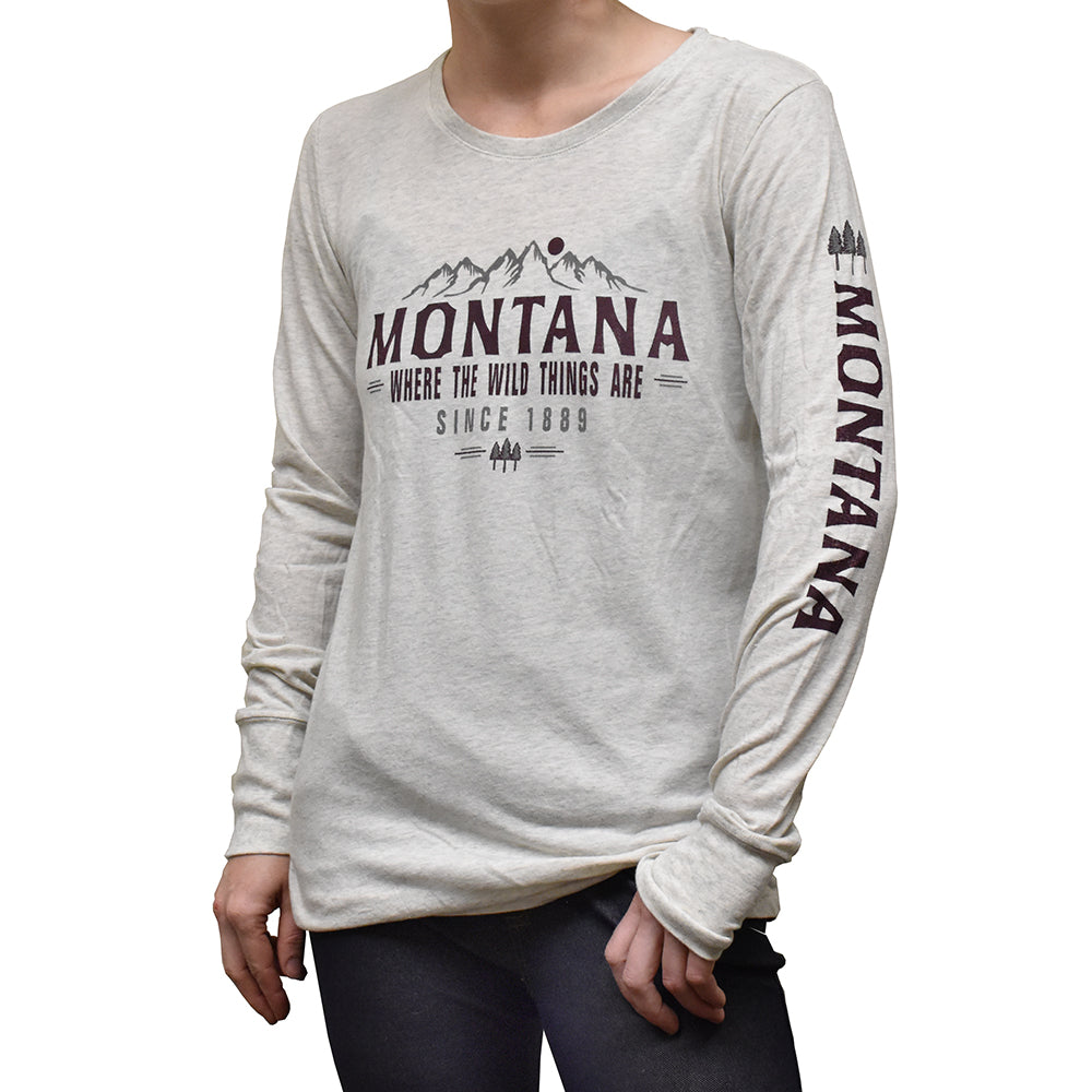 Where the Wild Things Are Montana Mountain Tribute Long Sleeve Shirt by Lakeshirts and Blue 84