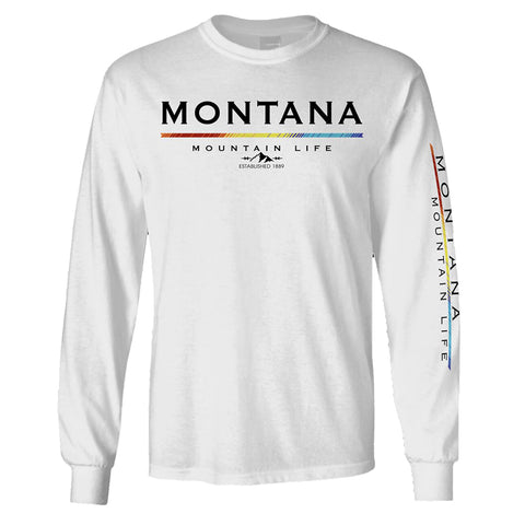 White Indicator Mountain Long Sleeve Montana Shirt