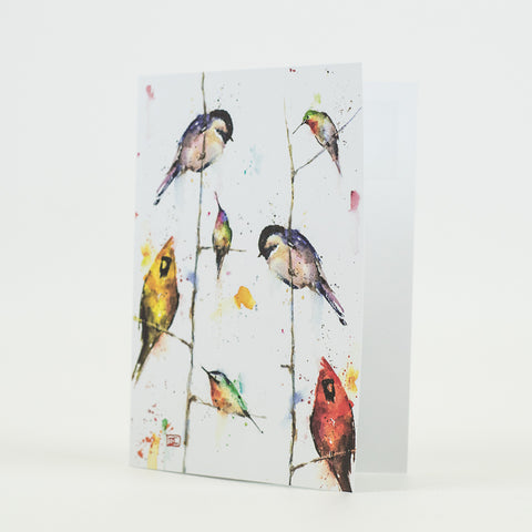 Birds on Branches Bird Watercolor Greeting Cards by Dean Crouser from Montana Gift Corral