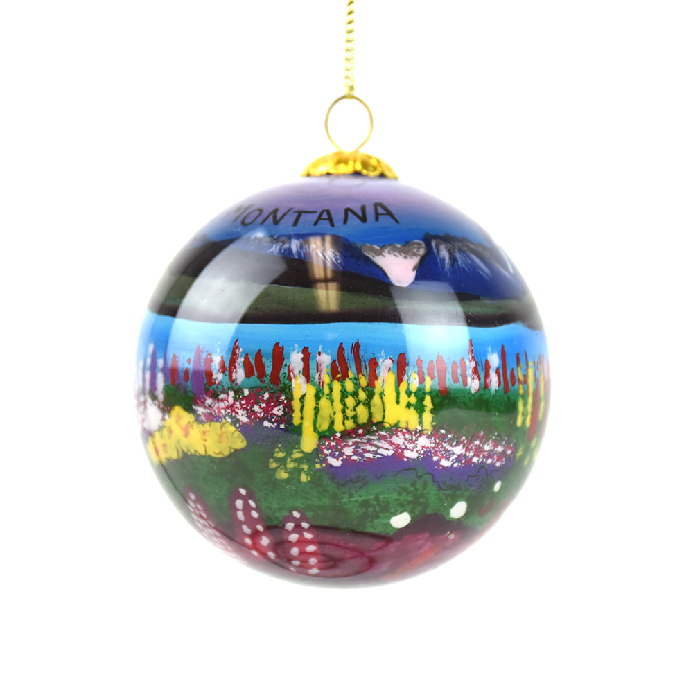 Wildflowers and Mountains Montana Christmas Ornament by Art Studio Company at Montana Gift Corral
