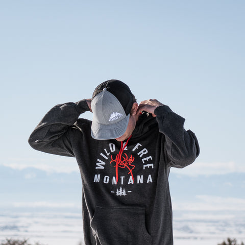 Wild and Free Bio Dome Elk Montana Hoodie by Prairie Mountain