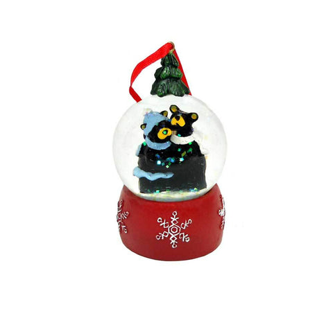 Bearfoots Winter Bears Snow Globe Ornament by Big Sky Carvers