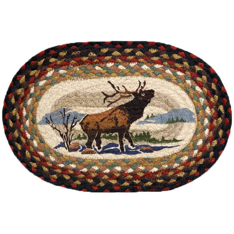 Oval Mini Swatch Trivet Rug by Capitol Earth Rugs (Winter Elk)