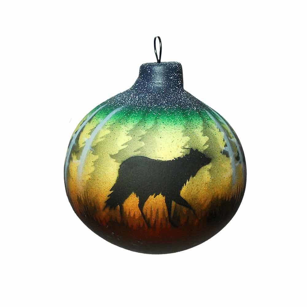 Woodland Shadows Wolf Ornament