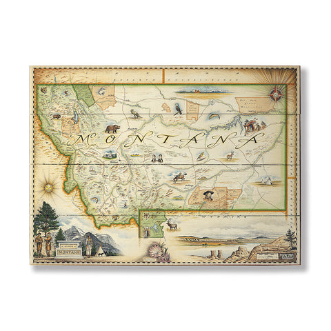 XPlorer Maps Montana State Map by Meissenburg Designs