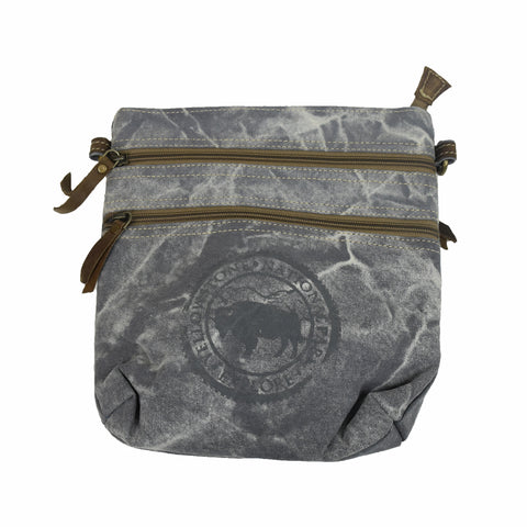 Yellowstone Bison Cross Body Canvas Bag by Art Studio Company