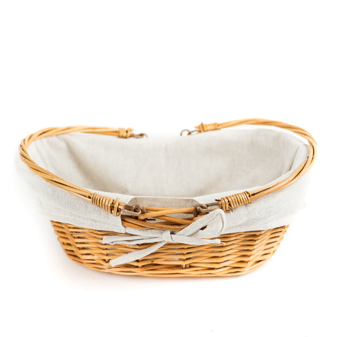 Honey Willow Basket with White Liner by Wald Imports