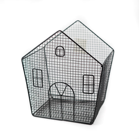 Home Black Wire Mesh Basket