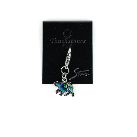 Charms symbolize turning points in the wearer's life, such as a birthday, graduation, wedding, or the birth of children! This beautiful Wild Pearle Bear Charm by A.T. Storrs with be a welcome addition to any bracelet adding a pop of beautiful iridescent colors synonymous with the dancing colors in the Aurora Borealis!