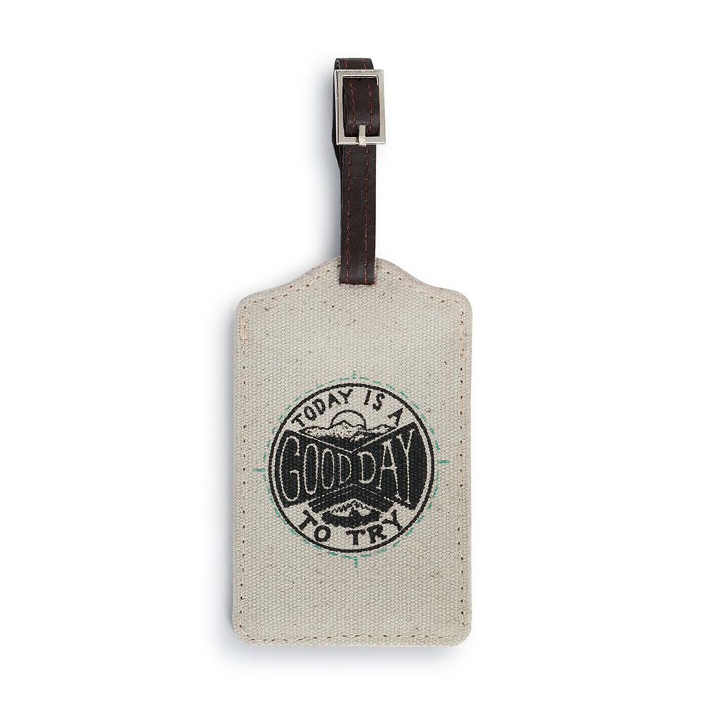 Good Day Luggage Tag by Big Sky Carvers