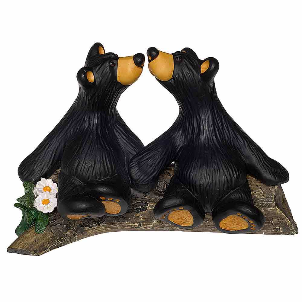 Bearfoots Kissin' Bears Figurine by Big Sky Carvers