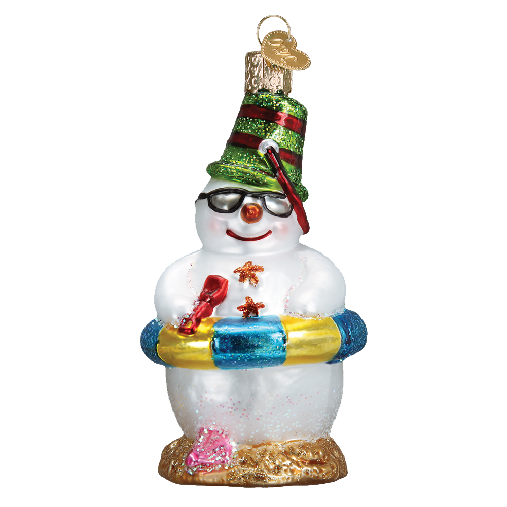 Snowman On Beach Ornament by Old World Christmas