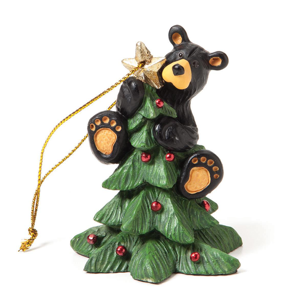 Bearfoots Tree Topper Bear Ornament by Big Sky Carvers