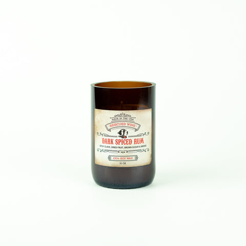 Dark Spiced Rum Candle by Rescued Wine