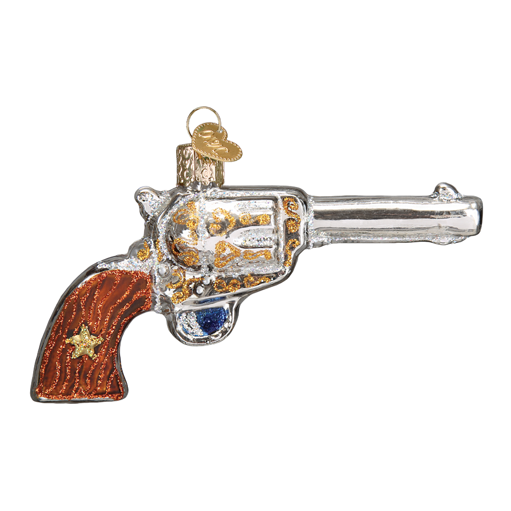 Western Revolver Ornament by Old World Christmas