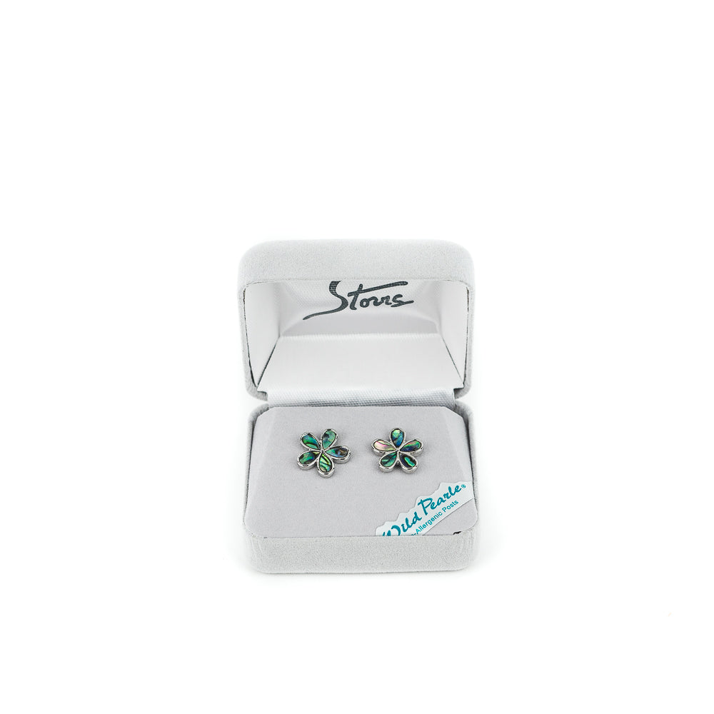 Wild Pearle Forget Me Not Stud Earrings by A.T. Storrs