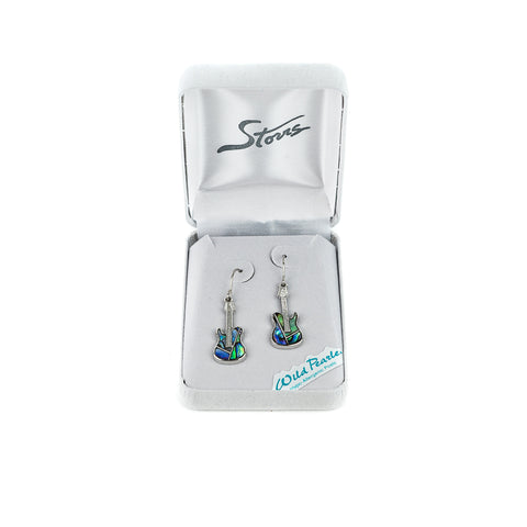 Unleash your inner rockstar with the Wild Pearle Guitar Earrings by A.T. Storrs!