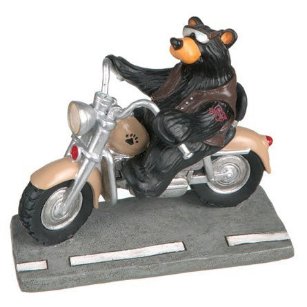 "Bearfoots ""Harley Biker Bear"" by Big Sky Carvers"