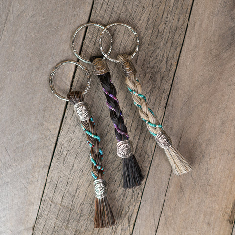 Horsehair Beaded Key Chain by Cowboy Collectibles