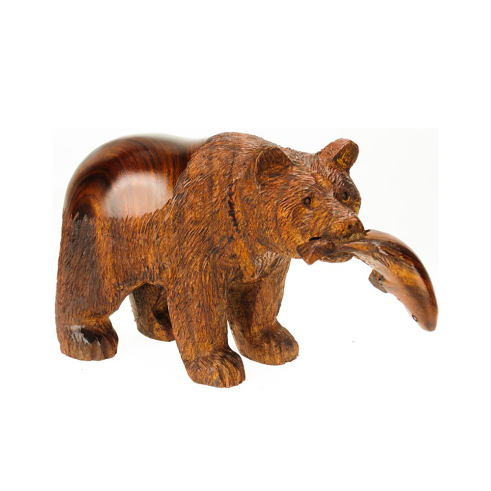 Detailed Grizzly With Fish by Earthview, Inc.