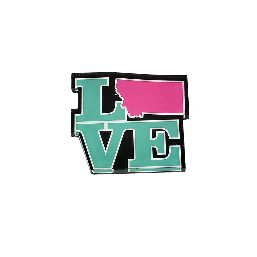 Montana Love Lucite Magnet by The Hamilton Group