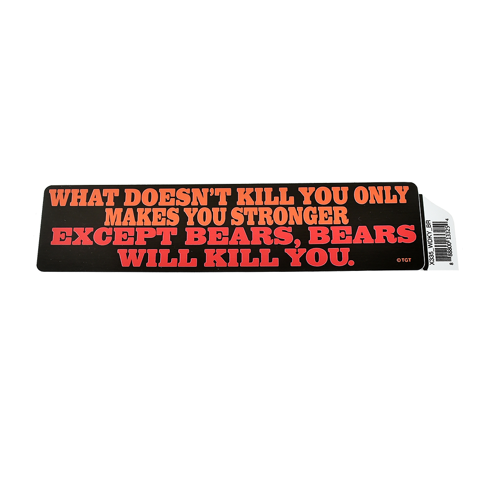 """What Doesn't Kill You"" Rectangle Bumper Sticker by TGT"