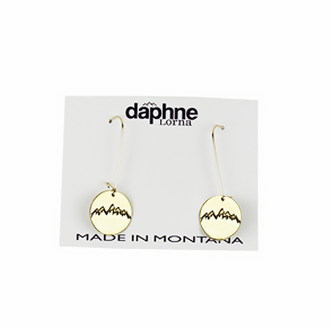 Antique Brass Snowcaps Earrings by Daphne Lorna