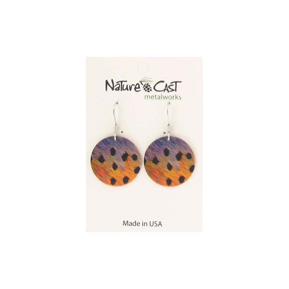 Cutthroat Trout Scales Dangle Earring from Nature Cast Metalworks
