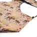 Tan/Blue Moose Printed Sling Bag - close up