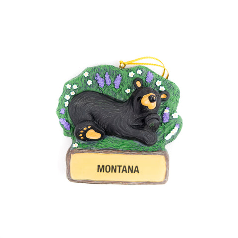 Bearfoots Bear Wildflower Montana Ornament