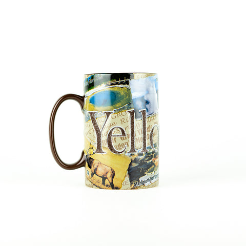 Yellowstone Etched Panel Mug - Side 1