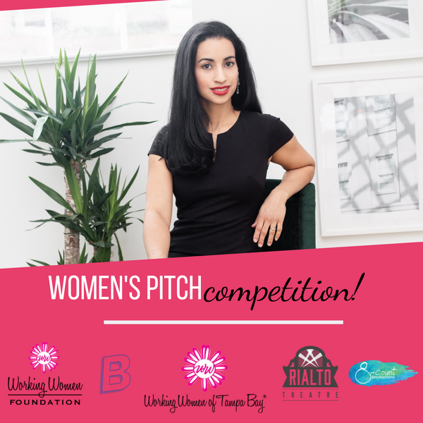 Jessy Furniel, Founder of Adelie organic skincare pitching for Women's Pitch Competition by Babe Crafted and Working Women of Tampa Bay on Oct. 23, 2019 in Tampa Bay, FL