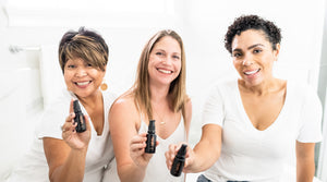 Adelie opulent organic skincare for women over 35 years old to proudly embrace their age with confidence photo of diverse beauty by Christina Jones Photography