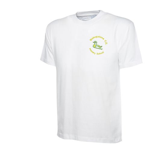 Bishopstone CE Primary School White PE T-shirt