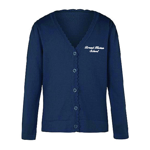 Broad Hinton Primary School Girls Cardigan with Scallop trim