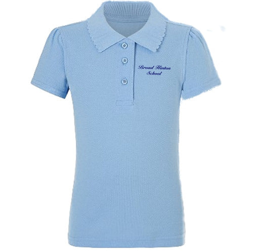 Broad Hinton School Pale Blue Girls Polo shirt