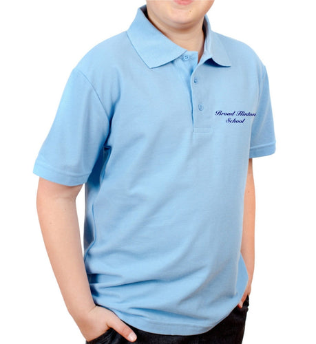 Broad Hinton School Pale Blue Poloshirt