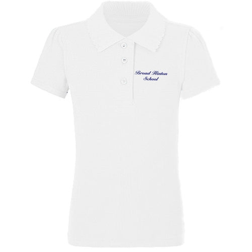 Broad Hinton School White Girls Polo shirt
