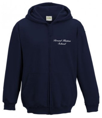 Broad Hinton School Zip Up Hoodie