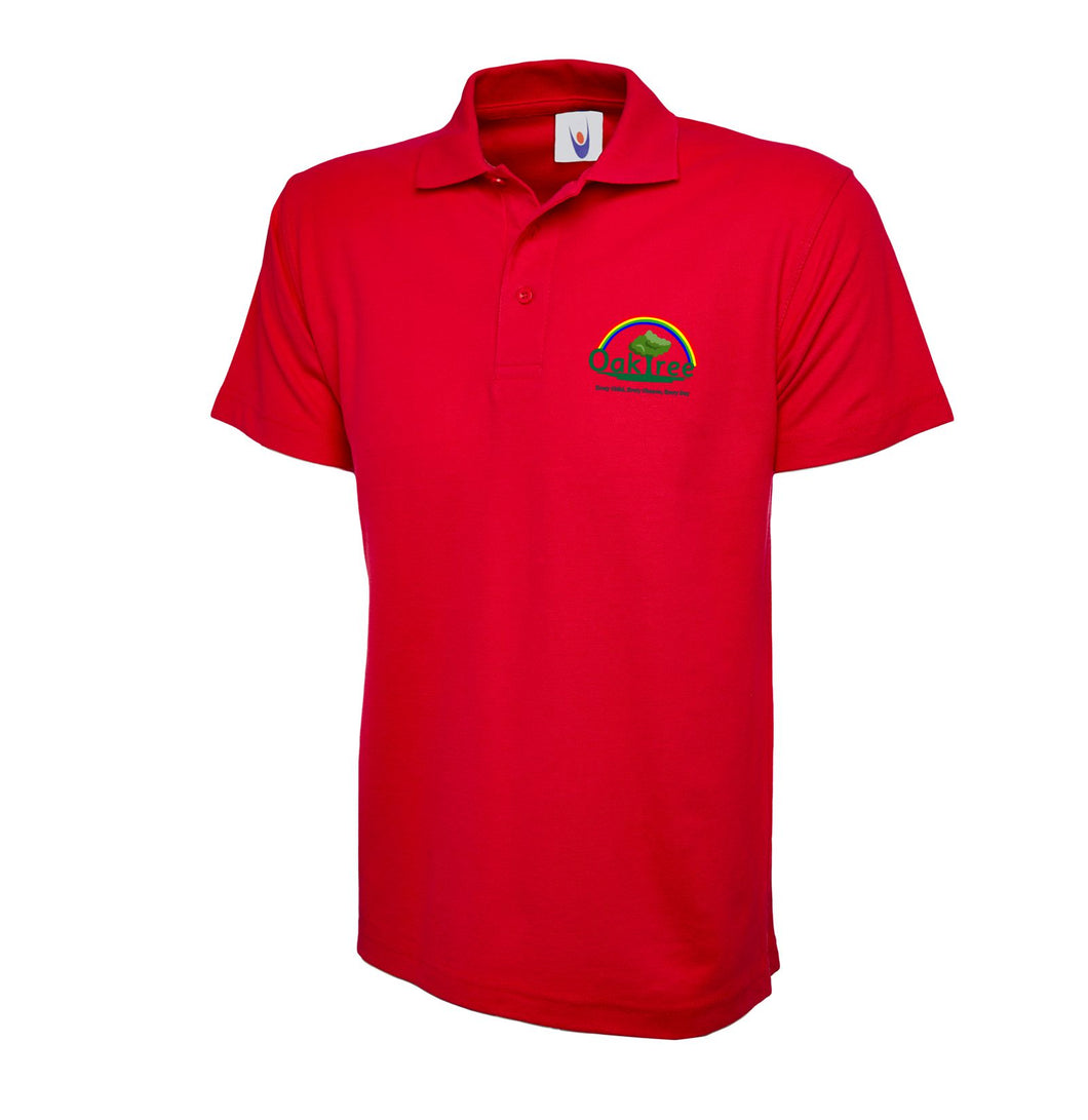Oaktree Nursery and Primary School Red Poloshirt
