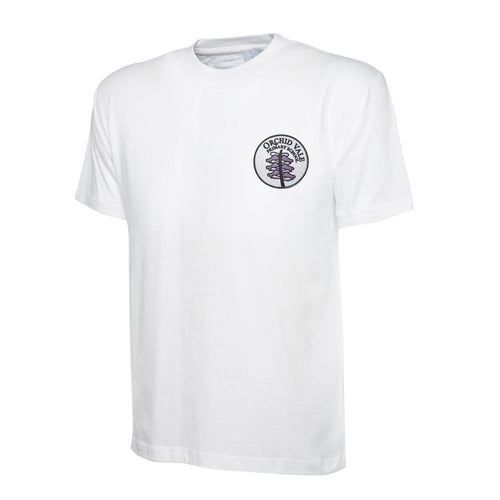 Orchid Vale Primary School White PE T-shirt
