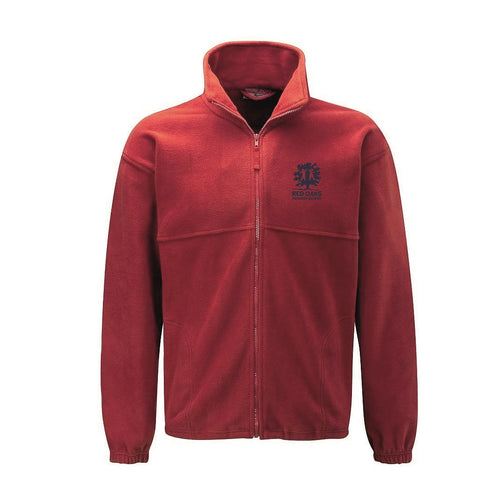 Red Oaks Primary School Fleece (RED with navy logo) - FOR STAFF ONLY!