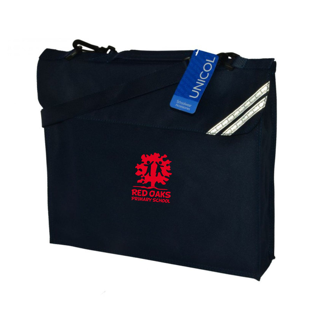 Red Oaks Primary School Book Bag with shoulder strap