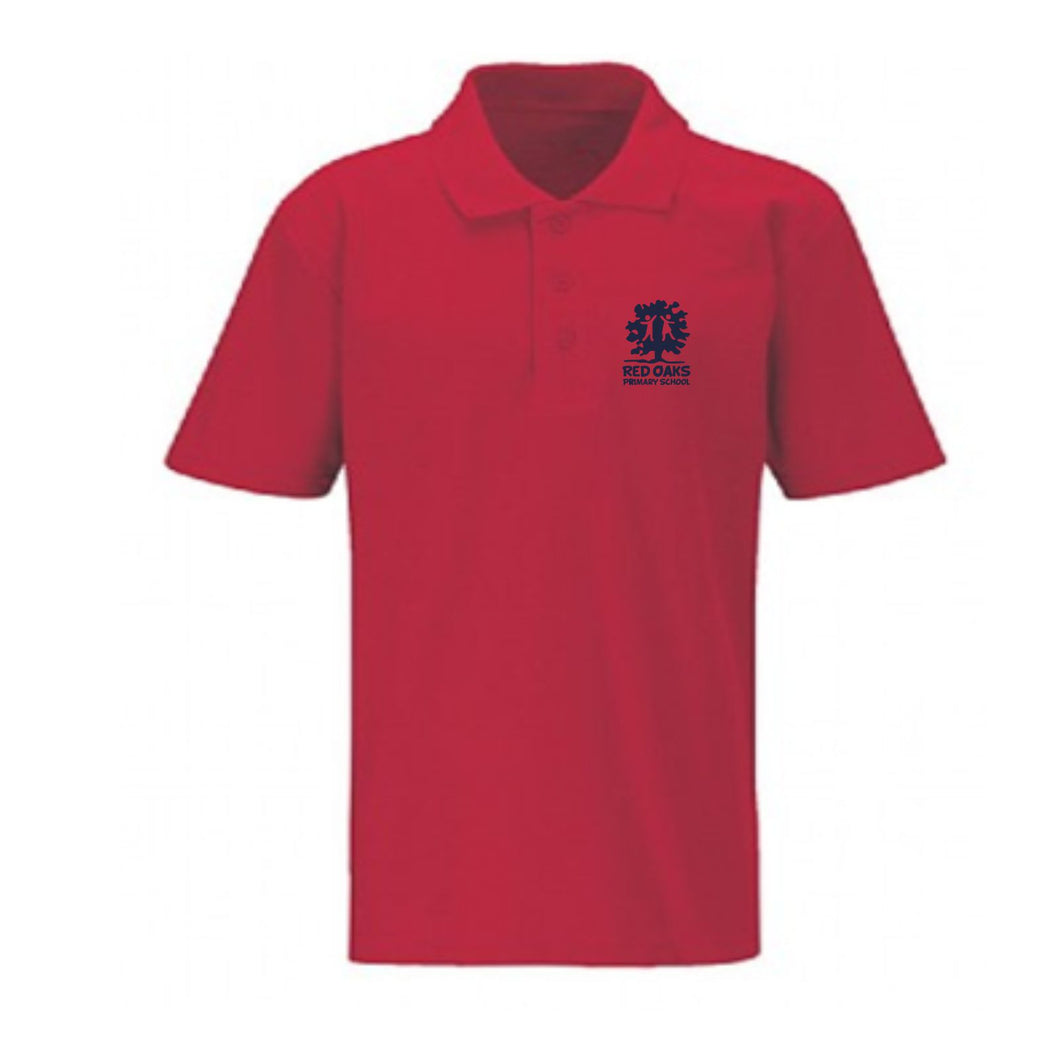 Red Oaks Primary School Classic Red Polo