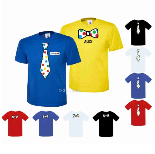PERSONALISED BOYS SPOTTED T-SHIRT