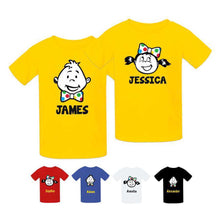 PERSONALISED BOYS AND GIRLS SPOTTED T-SHIRT