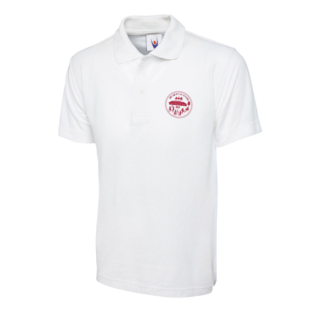 Brook Field Primary School White Poloshirt
